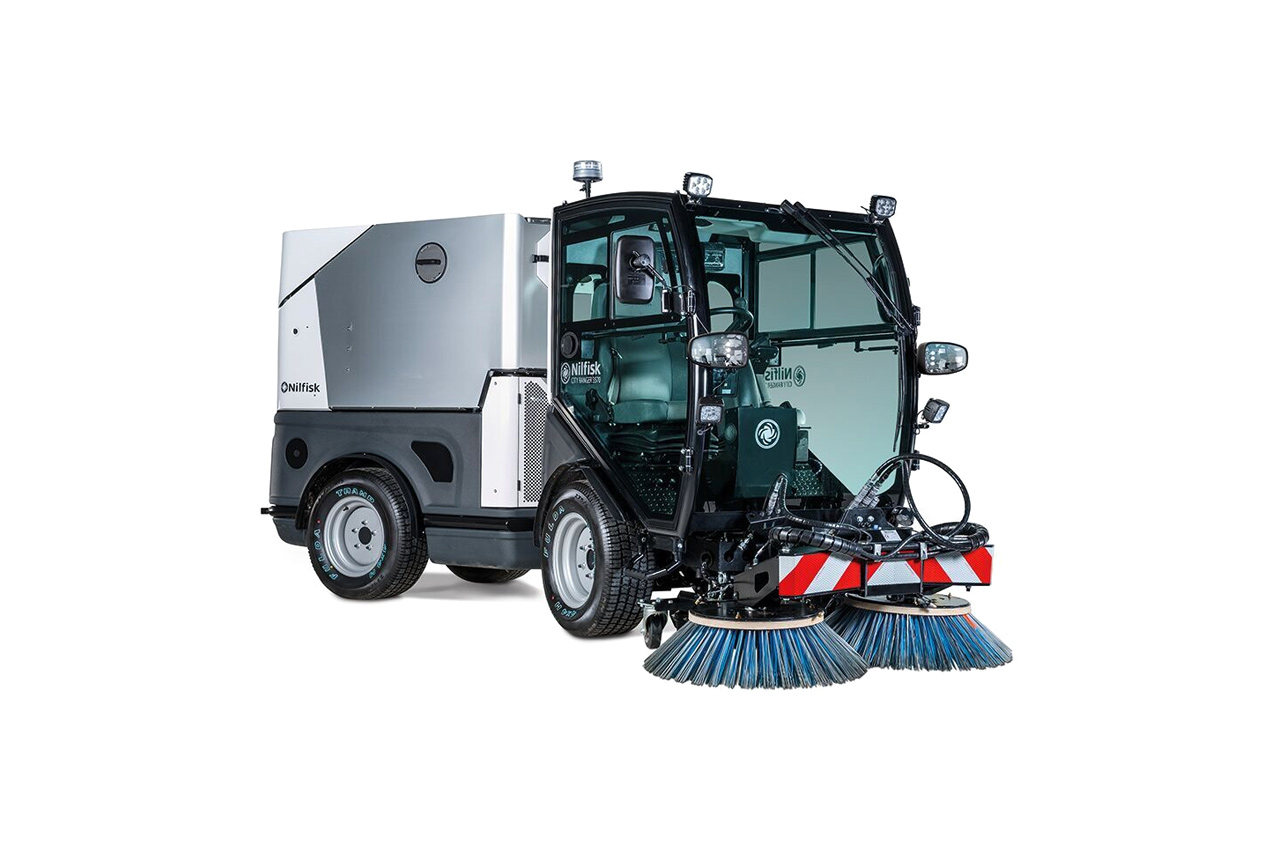 Nilfisk ride in floor sweeper
