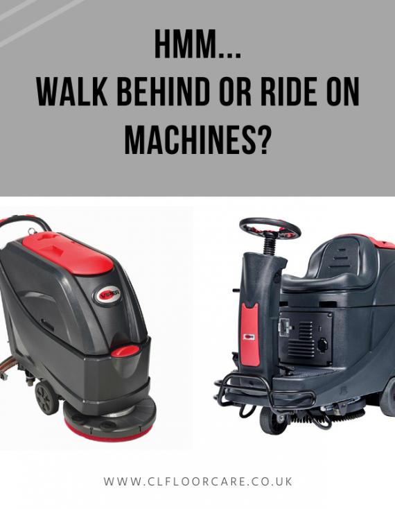 Hmm…. Walk behind or ride on machines?