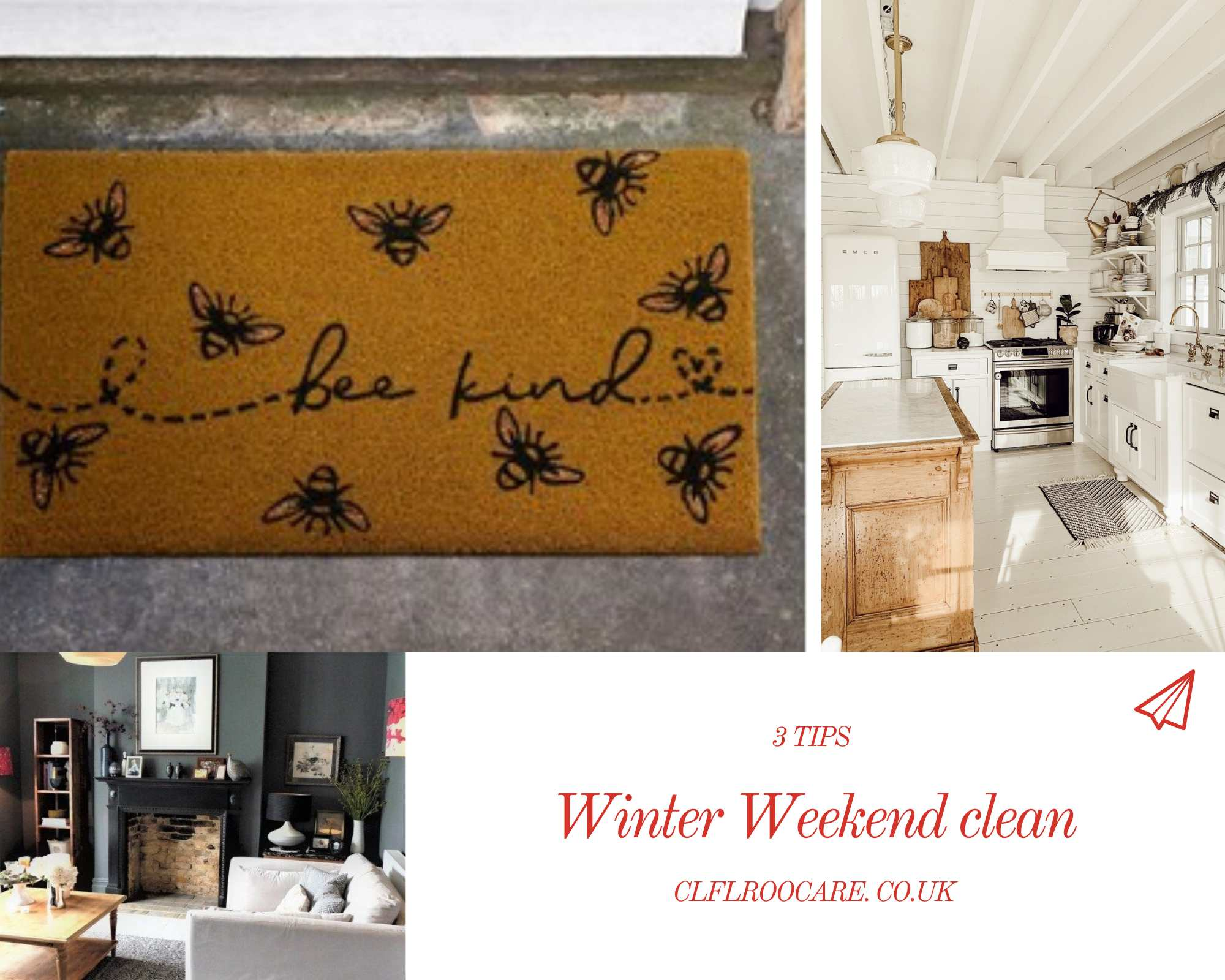 Top 3 tips on a good winter weekend clean