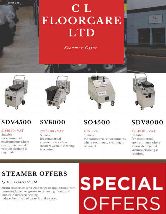 Steamer Special Offer now Live!!