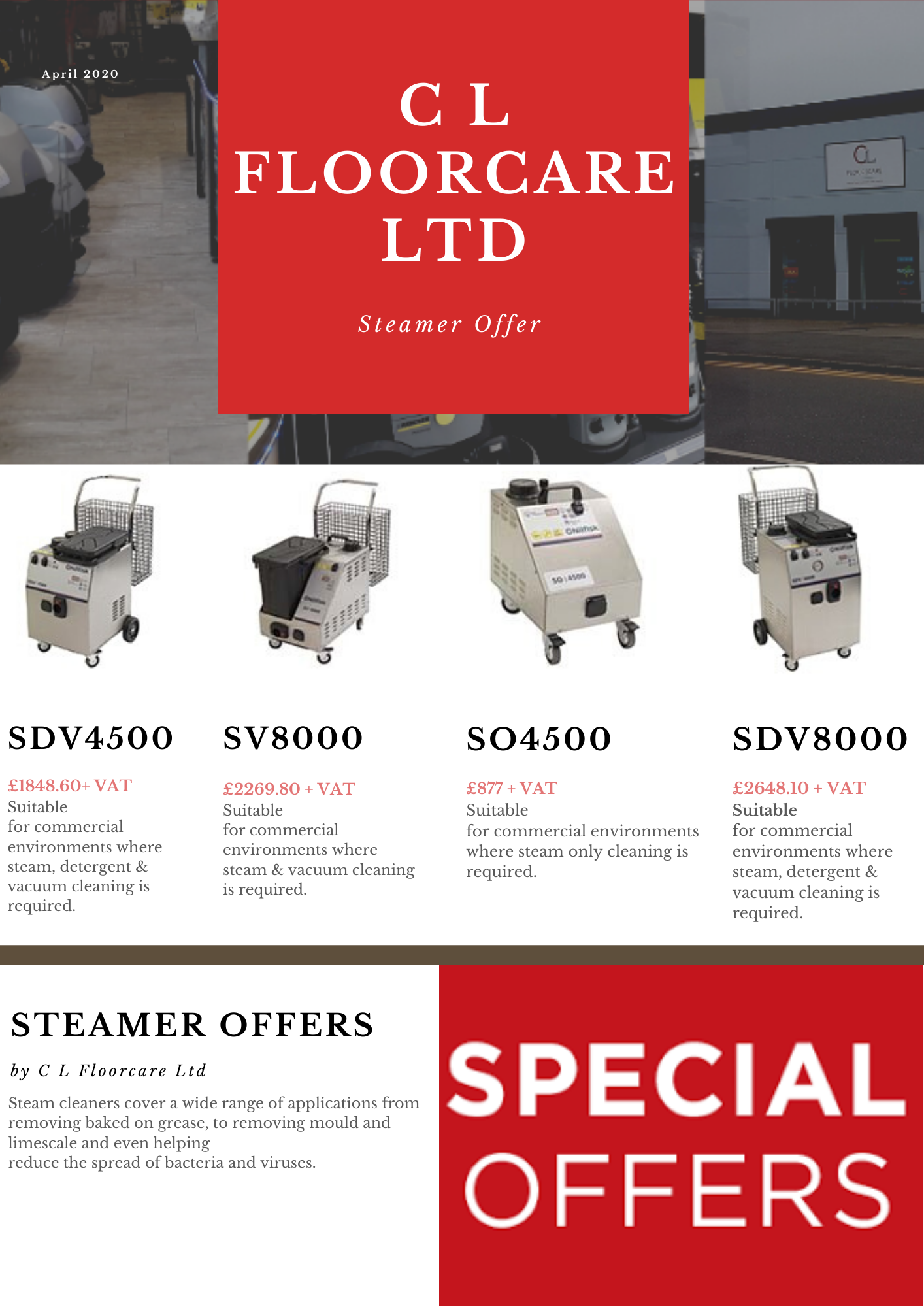Steamer offers